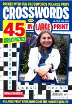 Crosswords in large print magazine