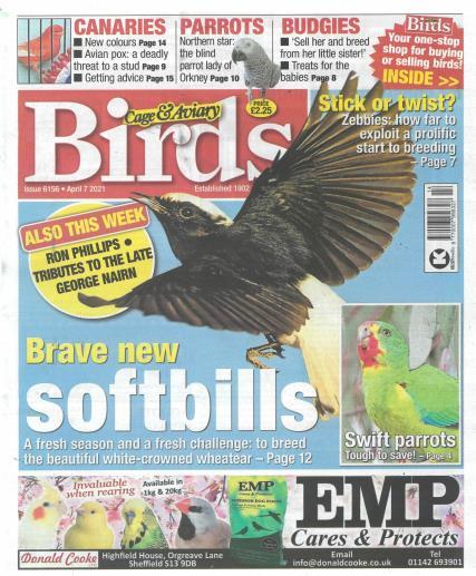 Cage and Aviary Birds magazine