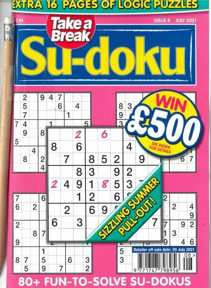 Take a Break Sudoku magazine