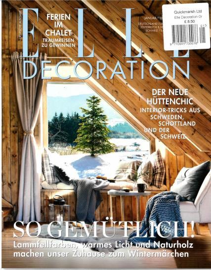 Elle Decoration German magazine