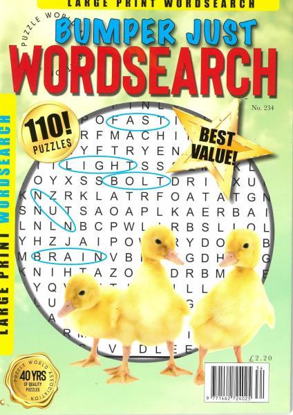 Bumper Just Word Search magazine