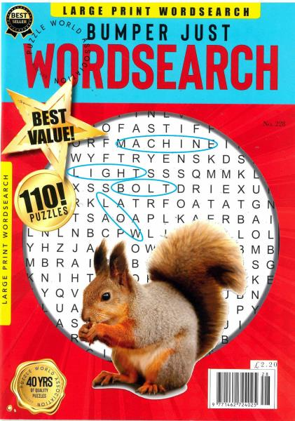Bumper Just Word Search magazine