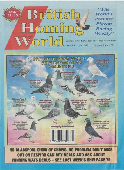 British Homing World magazine