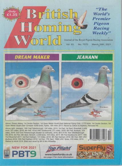 British Homing World magazine