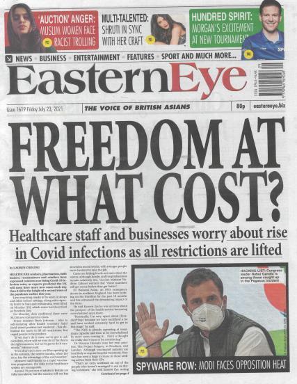 Eastern Eye magazine