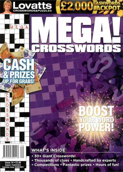 Lovatts Mega Crosswords magazine
