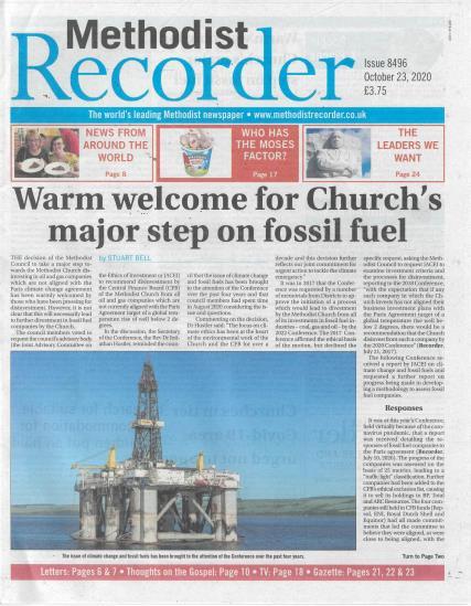 Methodist Recorder magazine