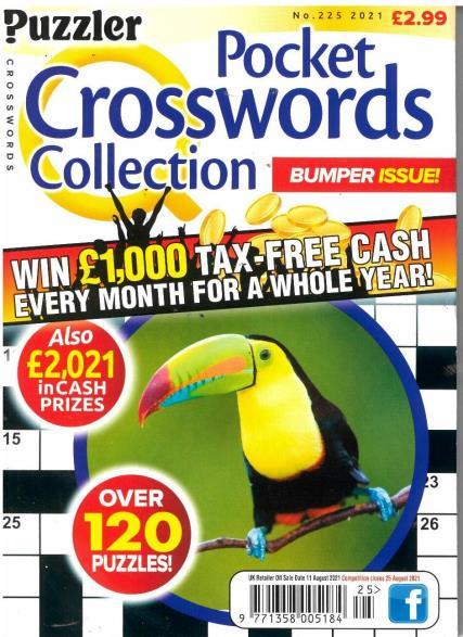 PUZZLER Q POCK CROSSWORDS magazine