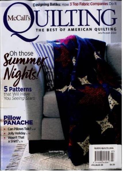 McCalls Quick Quilts USA magazine