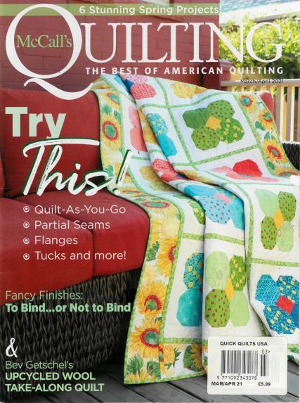 McCalls Quick Quilts USA magazine