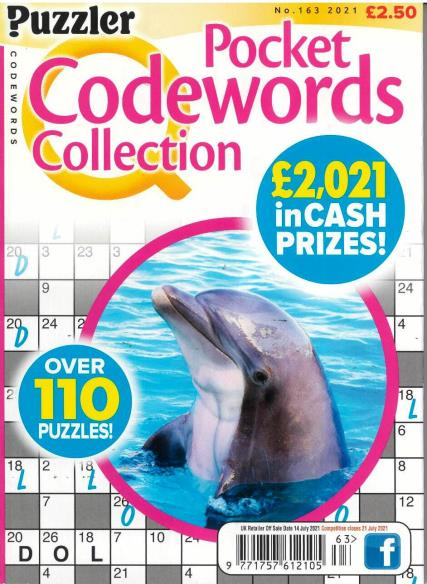 Puzzler Pocket Codewords Collection magazine