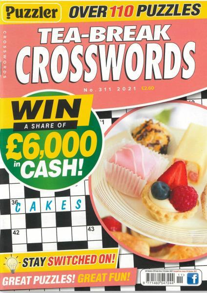 Puzzler Tea Break Crosswords magazine