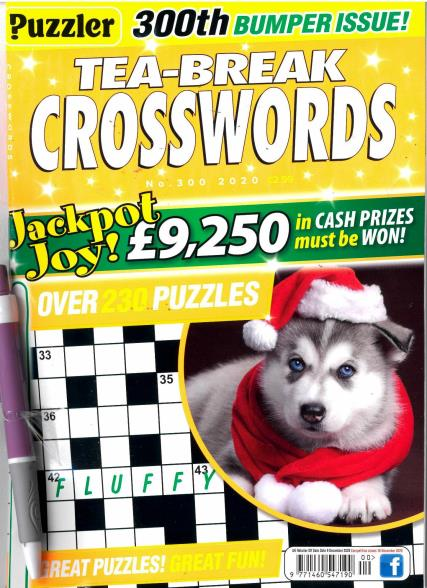 Puzzler Tea Break Crosswords magazine