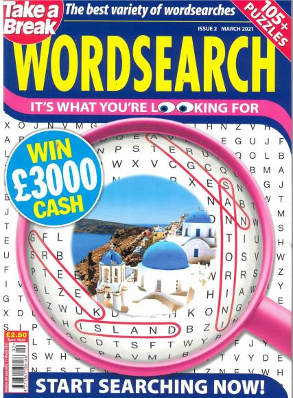 Take a Break's Wordsearch magazine