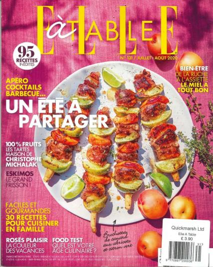 Elle A Table magazine