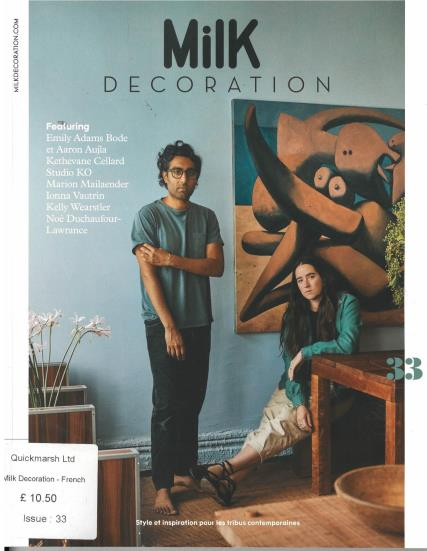 Milk Decoration French magazine