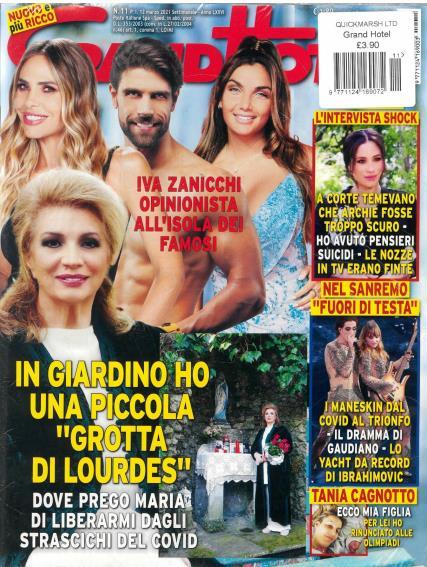Grand Hotel Italian magazine