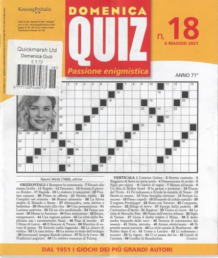 Domenica Quiz magazine