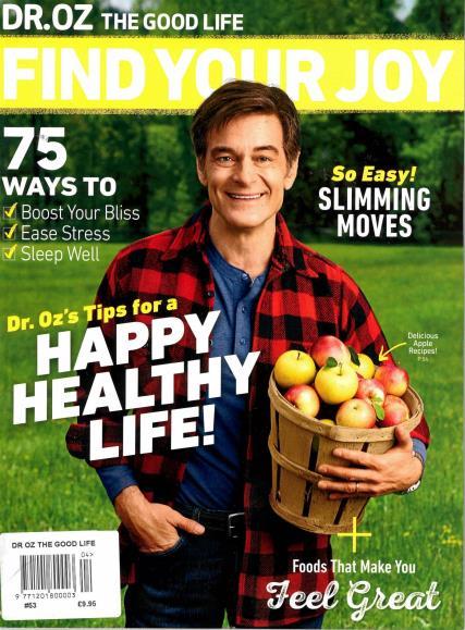 Dr Oz The Good Life magazine