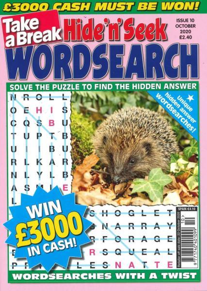 Take a Break's Hide n Seek Wordsearch magazine