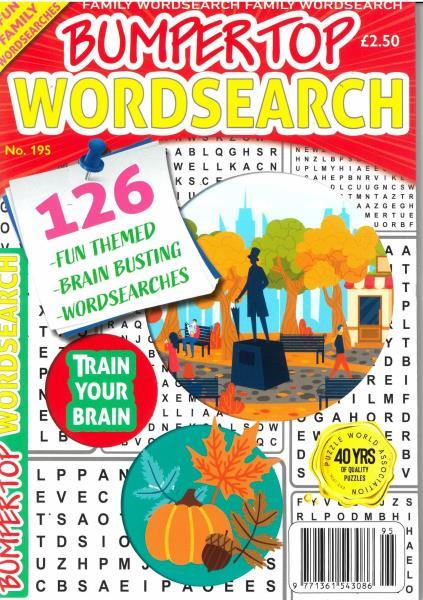 Bumper Top Wordsearch magazine