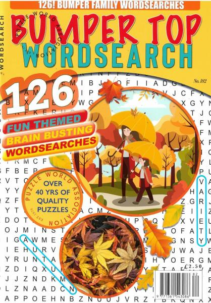Bumper Top Wordsearch magazine
