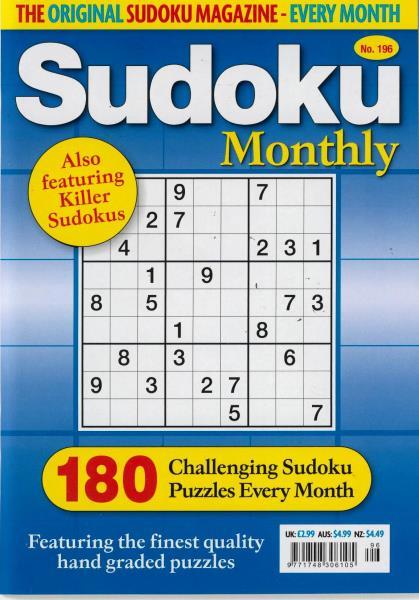 Sudoku Monthly magazine