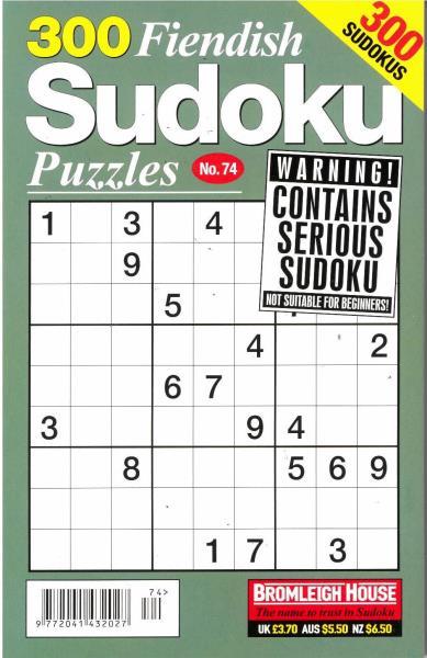 300 Fiendish Sudoku Puzzles magazine