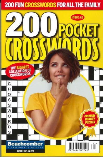 200 Pocket Crosswords magazine