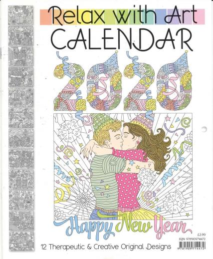 Relax with Art Calendar magazine