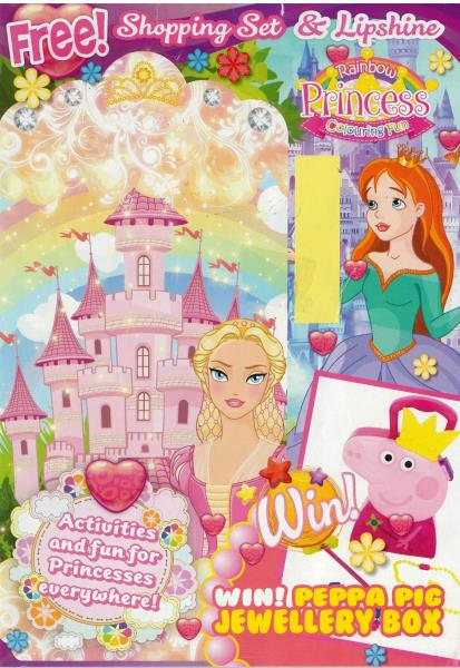 Rainbow Princess Colouring Fun magazine