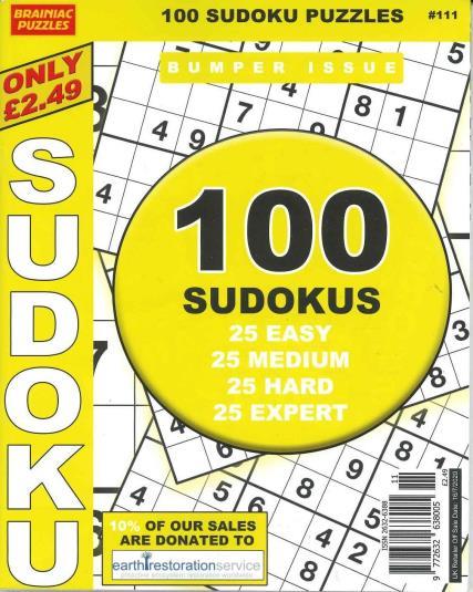 Brainiac Sudoku magazine
