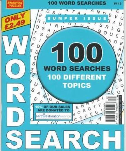 Brainiac Word Search magazine