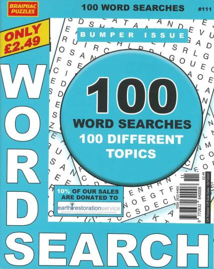 Brainiac Word Search magazine