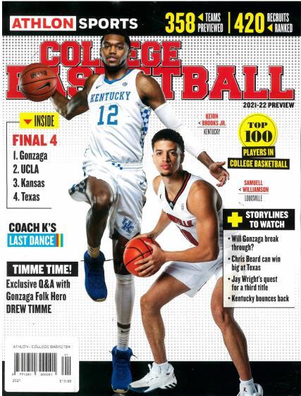Athlon College Basketball magazine