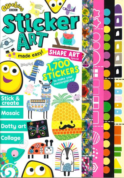 Cbeebies Sticker Art magazine