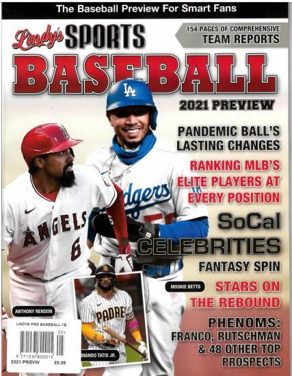 Lindys Pro Baseball 2021 magazine