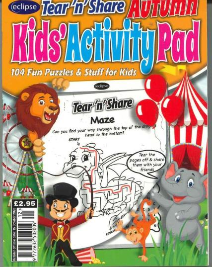 Eclipse Tear'n'Share Kids Activity Pad magazine