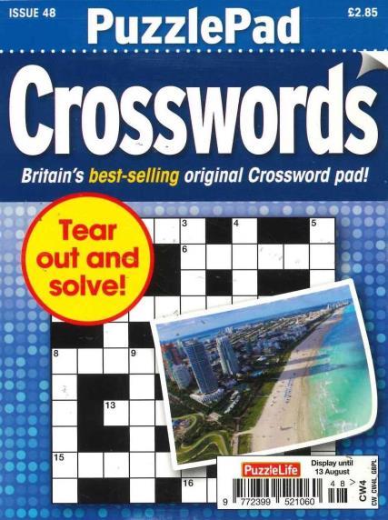 Puzzlelife Puzzlepad Crossword magazine