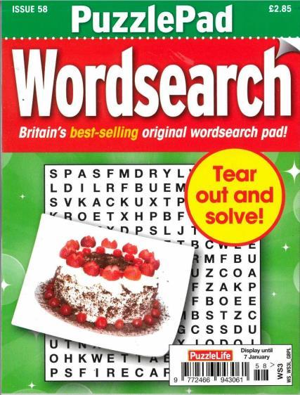 Puzzlelife PuzzlePad Wordsearch magazine