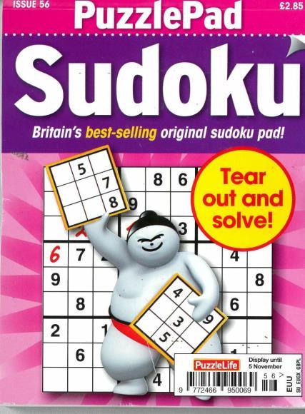 Puzzlelife PuzzlePad Sudoku magazine
