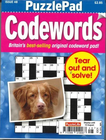 Puzzlelife PuzzlePad Codewords magazine