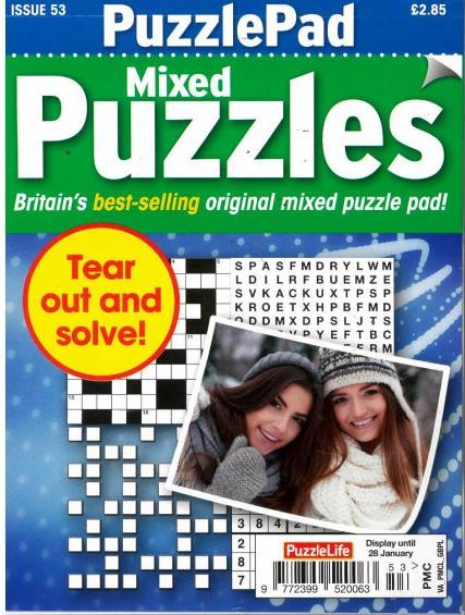 Puzzlelife PuzzlePad Mixed Puzzles magazine