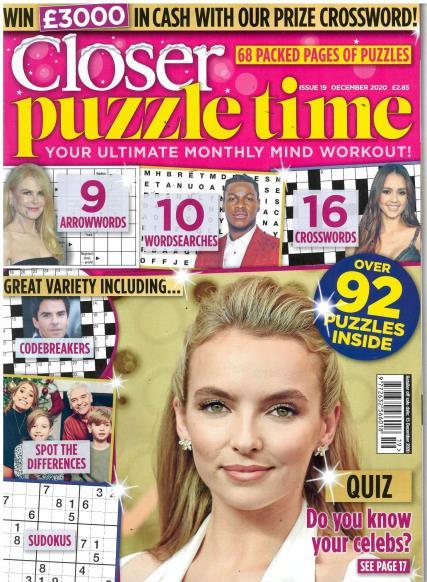 Closer Puzzle Time magazine
