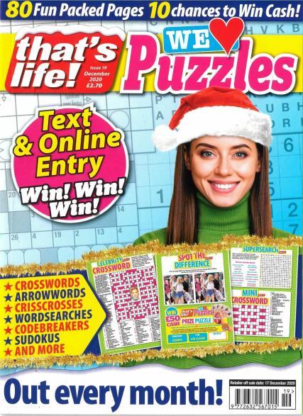 That's Life We Love Puzzles  magazine