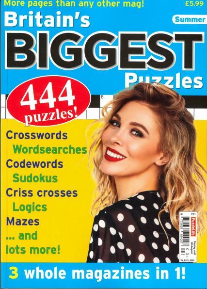 Britain's Biggest Puzzles magazine