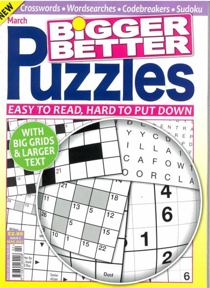 Bigger Better Puzzles magazine