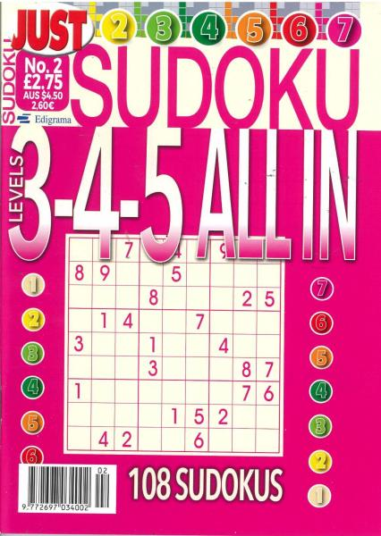 Just Sudoku All In magazine