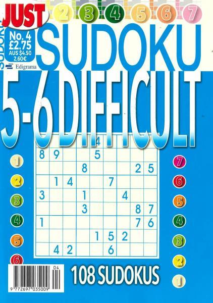 Just Sudoku Difficult magazine