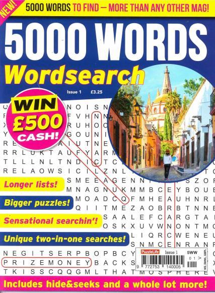 5000 Words Wordsearch magazine